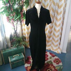 Coldwater Creek vintage stretch velvet maxi dress